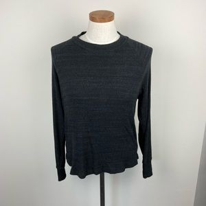 LNA Open Back Ribbed Sweater